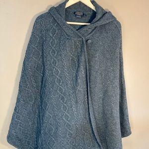Pendleton wool grey hooded cape